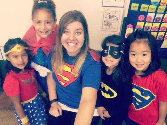 Super Hero Day for Spirit Week